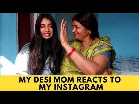 MY DESI MOM REACTS TO MY INSTAGRAM | Dolly Singh