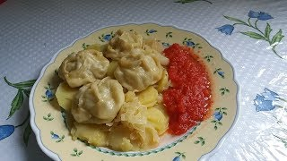Манты без мантоварки рецепт N 3--на овощах.
