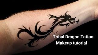 DIY Tribal Dragon Arm Tattoo: Makeup Tutorial