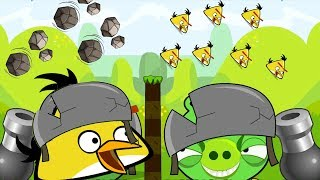 Angry Birds Collection Cannon 2 - THROW STONE BACK TO BLAST GIANT PIGGIES!
