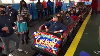 LIVE: Coney Island reopens, historic Cyclone rollercoaster returns after pandemic closure