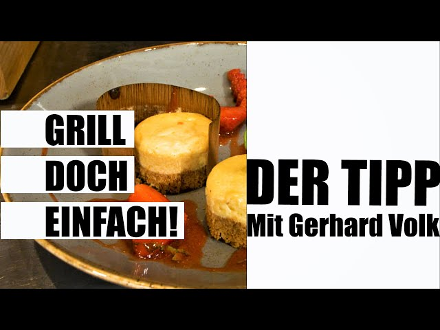 Tipps: American Cheesecake im Holzblatt mit Badischem Erdbeeren-Salat | #GRILLDOCHEINFACH