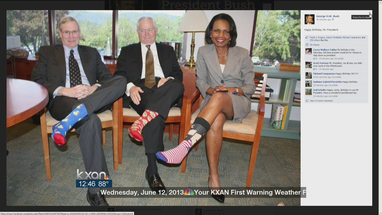 Colorful Socks Honor Ex President S Birthday Youtube