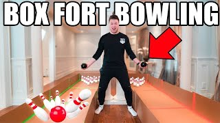 BOX FORT BOWLING!! 📦🎳 DIY Cardboard Bowling Game