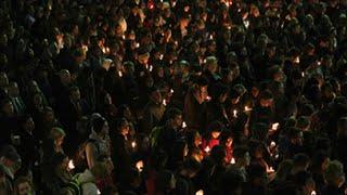 Candlelight Vigil Honors Deah Barakat, Yusor Abu-Salha and Razan Abu-Salha thumbnail