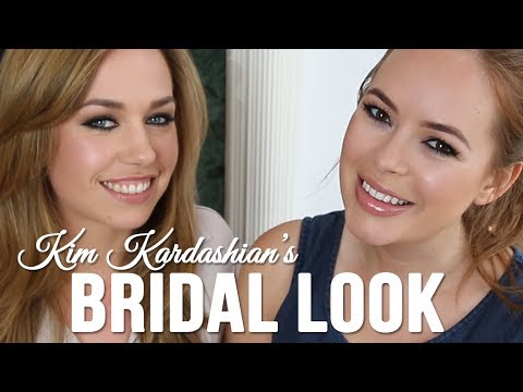Kim Kardashian's Bridal Look with Tanya Burr & Hannah Martin // I love makeup.