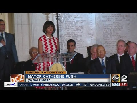 Catherine Pugh sworn in as Baltimore