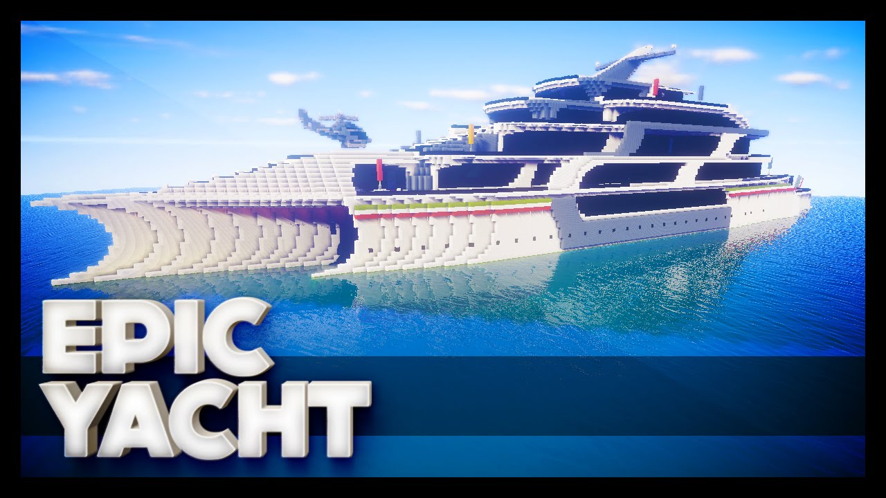how to make a working yacht in minecraft