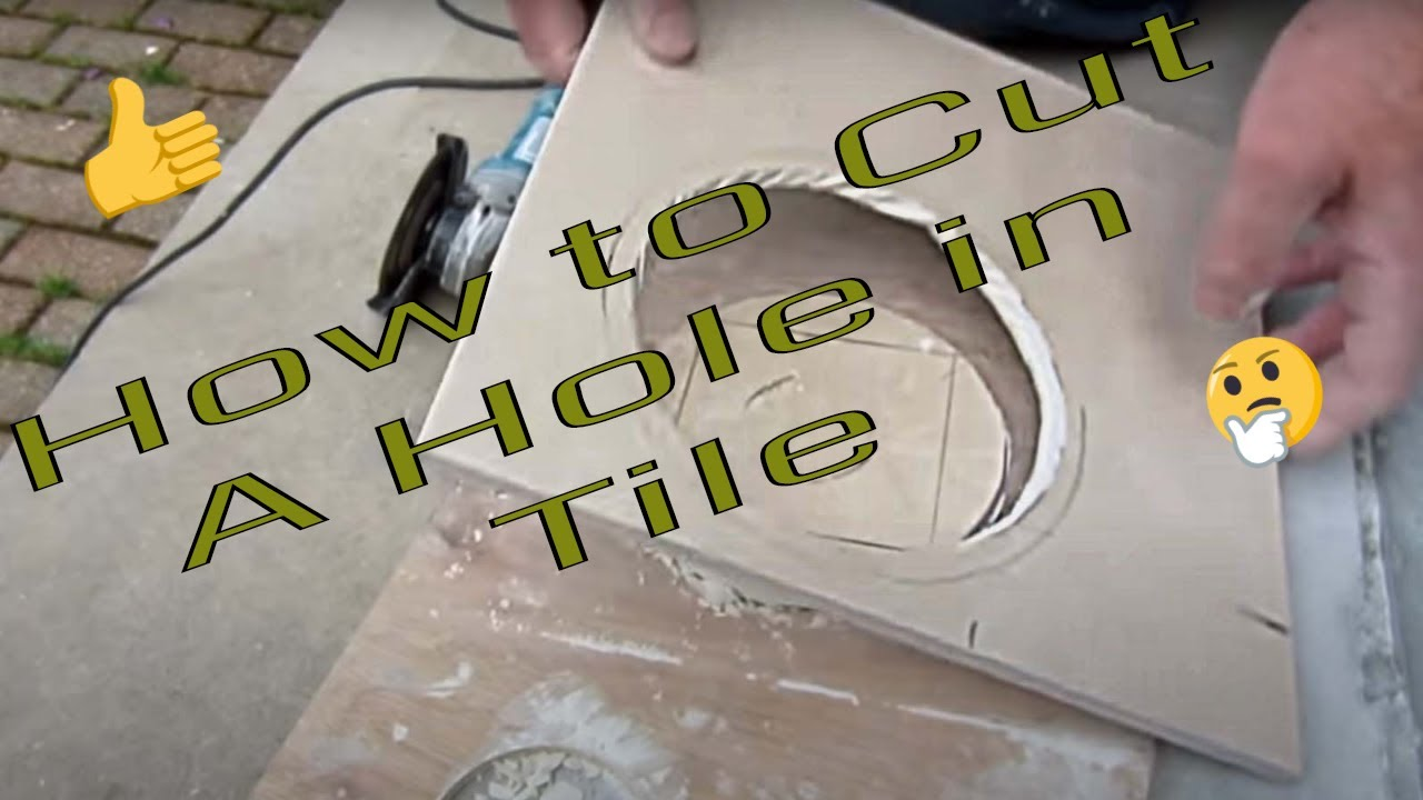 How to cut a hole in ceramic tile for toilet flange with an angle     How to cut a hole in ceramic tile for toilet flange with an angle grinder    YouTube