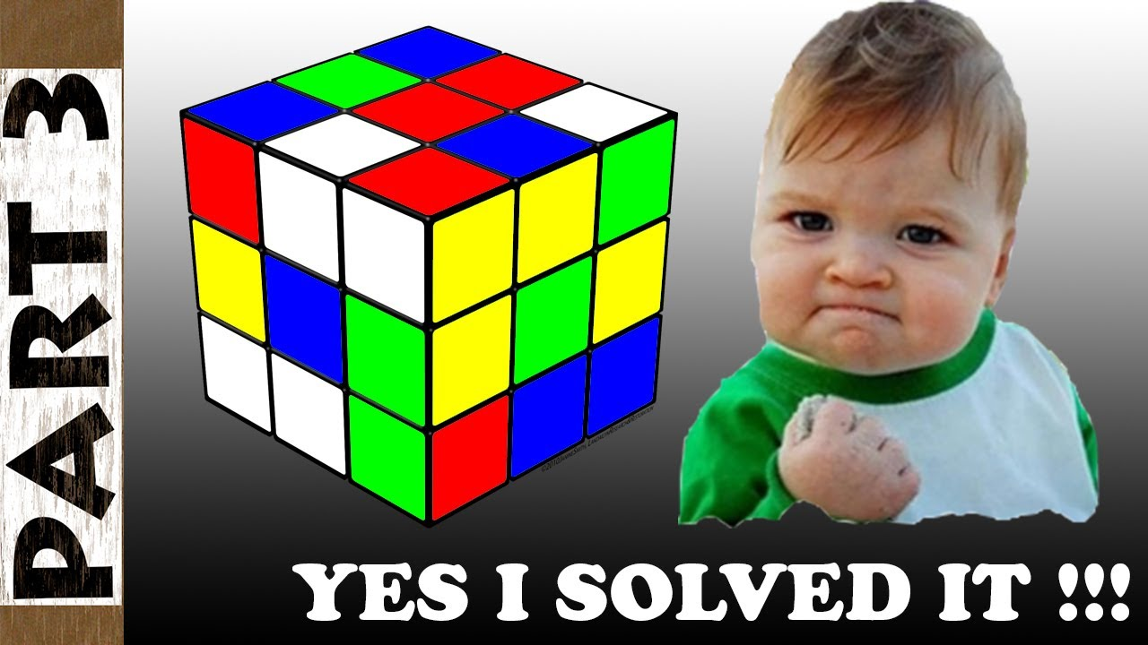 How to Solve a 3x3x3 Rubik's Cube Solution Step by Step for Beginners - Part 3