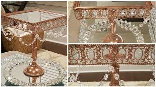 Glam Small  Cake Stand- Wedding Series 2018 - GreenCrystalRose