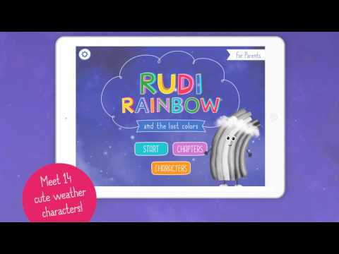 🌈 Rudi Rainbow and the lost colors 🌈 Weather learning App for kids (Trailer)