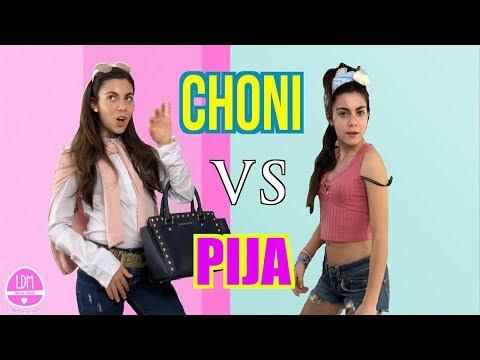 CHONI VS PIJA/PARODIA/ COMO SER UNA BUENA CHONI Y UNA SÚPER PIJA/LA DIVERSION DE MARTINA
