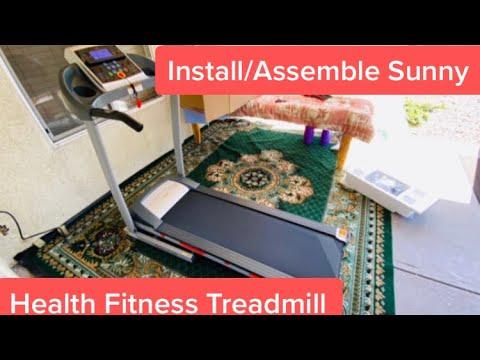 Install/Assemble Sunny Health Fitness Treadmill 2020   Bought from Amazon