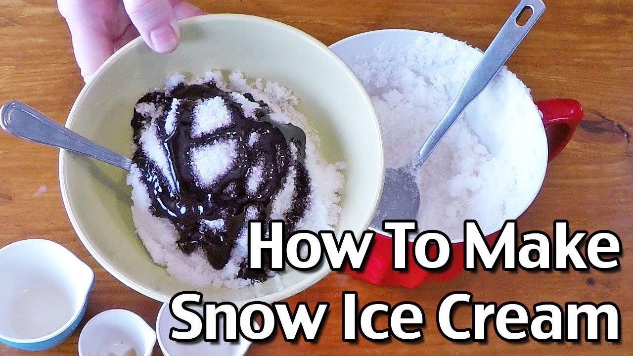 Homemade Snow Ice Cream Recipe Snow Cream Youtube