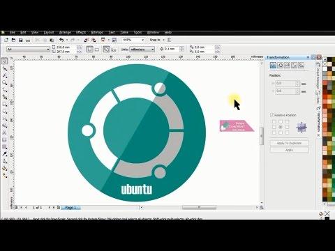 Tutorial Membuat Logo di CorelDRAW X4 | Belajar CorelDRAW