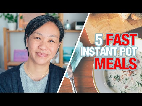5 FAST Time-Saving Instant Pot Recipes