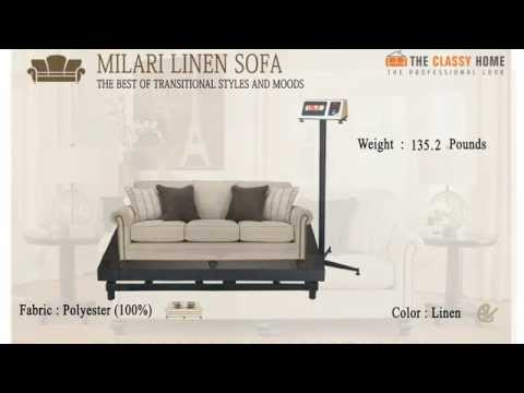 Milari Linen Sofa