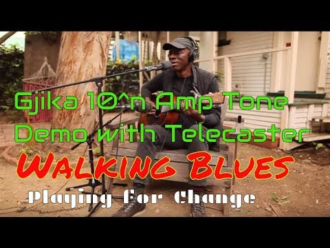 Electric Slide Guitar Blues Amp Demo -Walking Blues - Robert Johnson - Playing For Change - Keb' Mo'