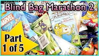 Blind Bag Marathon 2 - Part 1 (Angry Birds, Adventure Time, Marvel, DC Comics, Crazy Bones, Neopets)