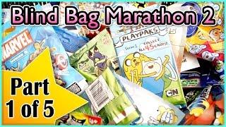 Blind Bag Marathon 2 - Part 1 (Angry Birds, Adventure Time, Marvel, DC Comics, Crazy Bones, Neopets)