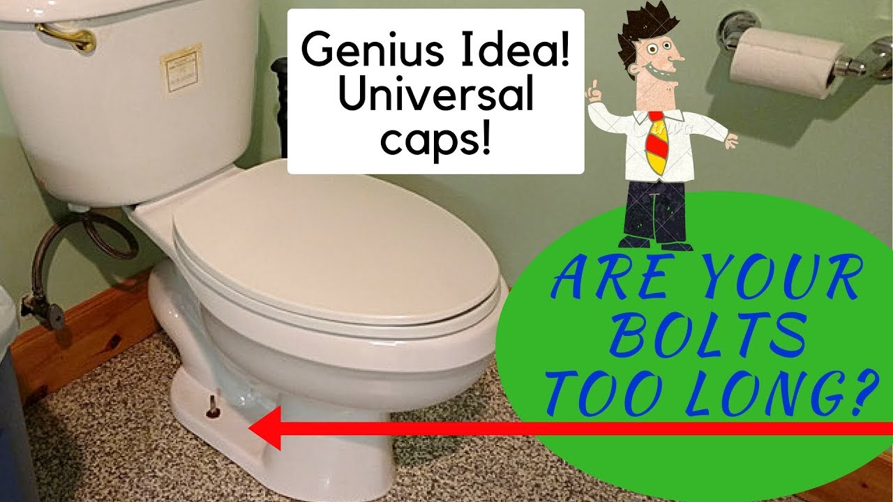 Toilet Closet Bolts Too Tall For Caps Not Now Youtube