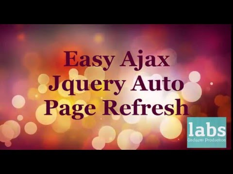 Easy way to refresh div within a page using ajax and jquery youtube - Jquery refresh div ...