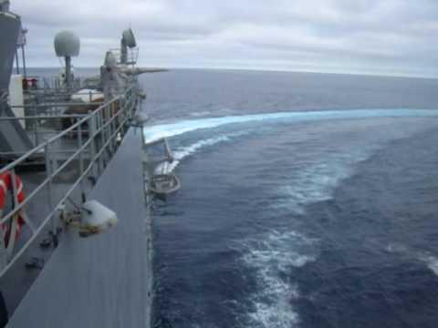 Left Full Rudder USS Rushmore