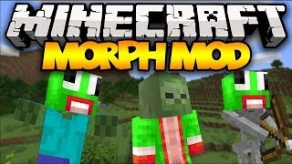 Minecraft: MORPHING! (Morph into ANY Mob!) | Mod Showcase