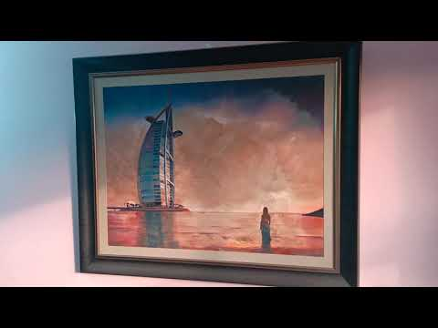 Dubai Burj Al Arab Sea View Oil Painting by Hasan Pasha