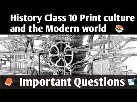 Print culture and Modern world class 10 History Important questions