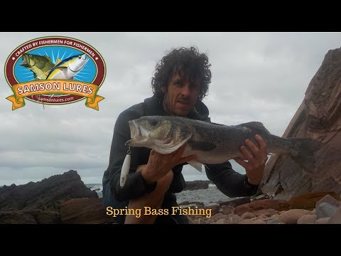 Bass Fishing In Portugal Spinning From The Rocks With Lures
