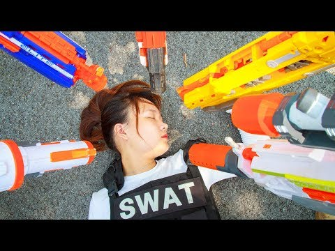 Nerf War Game : Special Police SWAT Nerf Guns Fight Attack Group Crime Of Dangerous Betray