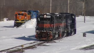 *RARE* Pan Am Power on Central Maine & Quebec North Bound - 3/17/2015