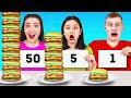 TANTANGAN 100 LAPIS! || Tantangan Ekstrem 100 Lapis Burger oleh 123 GO Like!