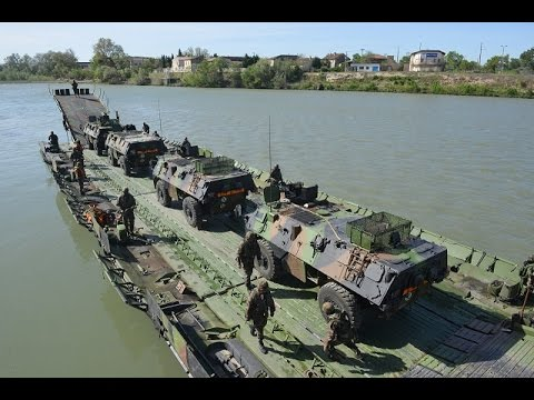 PFM Motorized Floating Bridge CNIM Military River Crossing Ferry