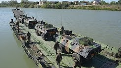 PFM Motorized Floating Bridge CNIM Military River Crossing Ferry
