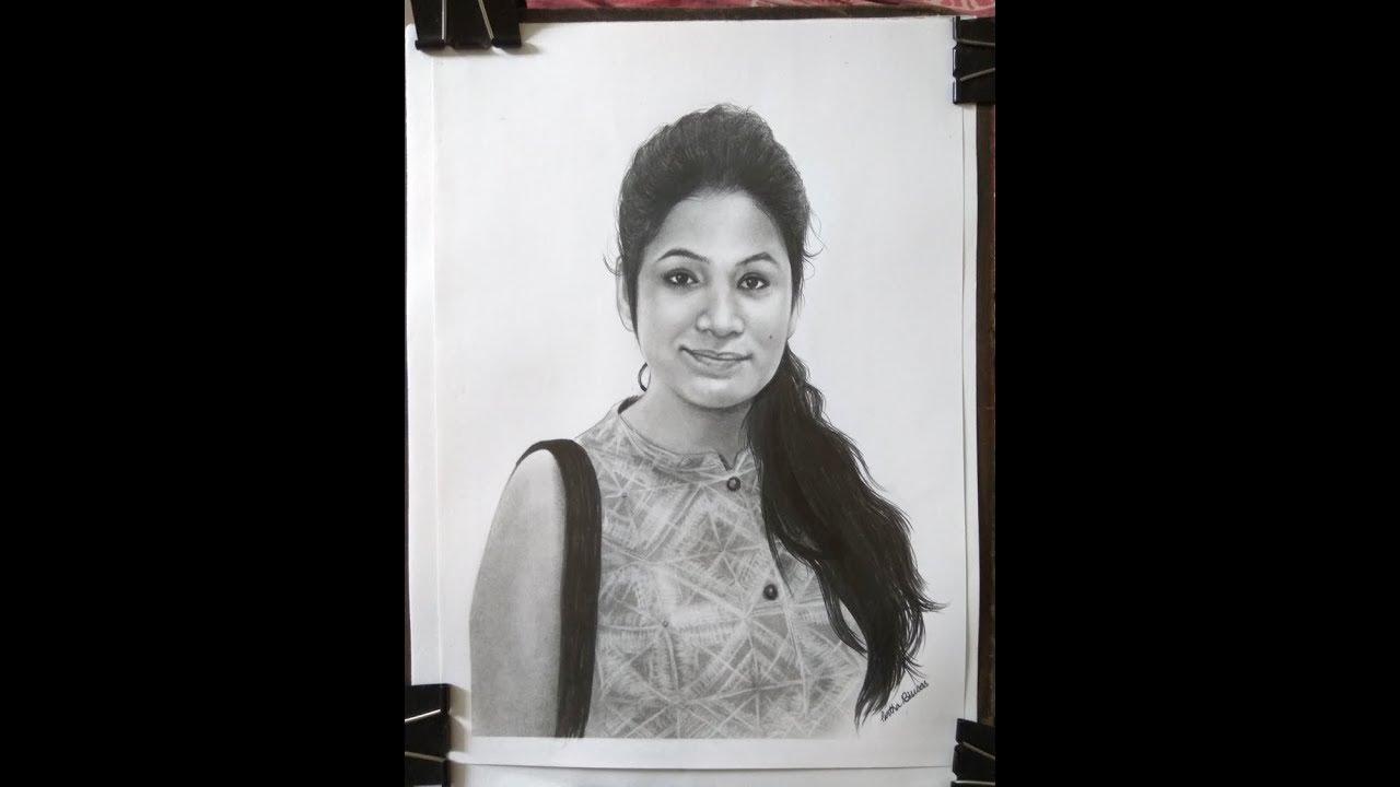 Girl pencil sketch order online pencil sketch kalakari in 3