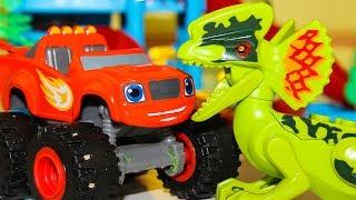 Вспыш и чудо машинки новые серии Мультики про машинки Вспыш игрушки Мультики про динозавров