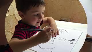 Учимся обводить рисунки #развитиеребенка #развиваемсяиграя #учимсярисовать #поделкисдетьми