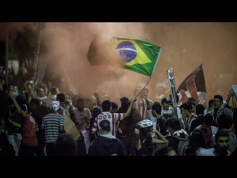 Violent clashes in Brazil as 2 million protest