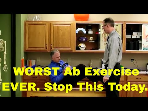 WORST Ab Exercise EVER. Stop this today. Can Cause Back Pain & Sciatica.