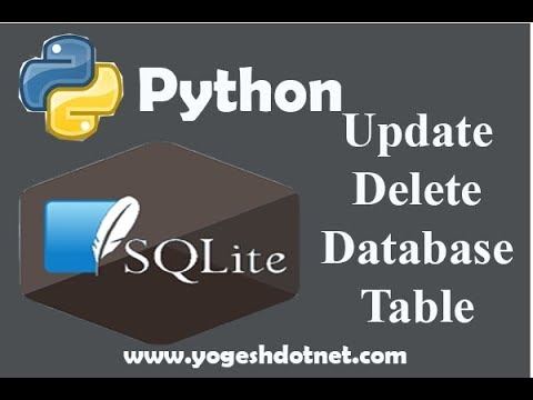 UPDATE and DELETE - SQLite3 with Python 3 | Lecture 18 | hindi