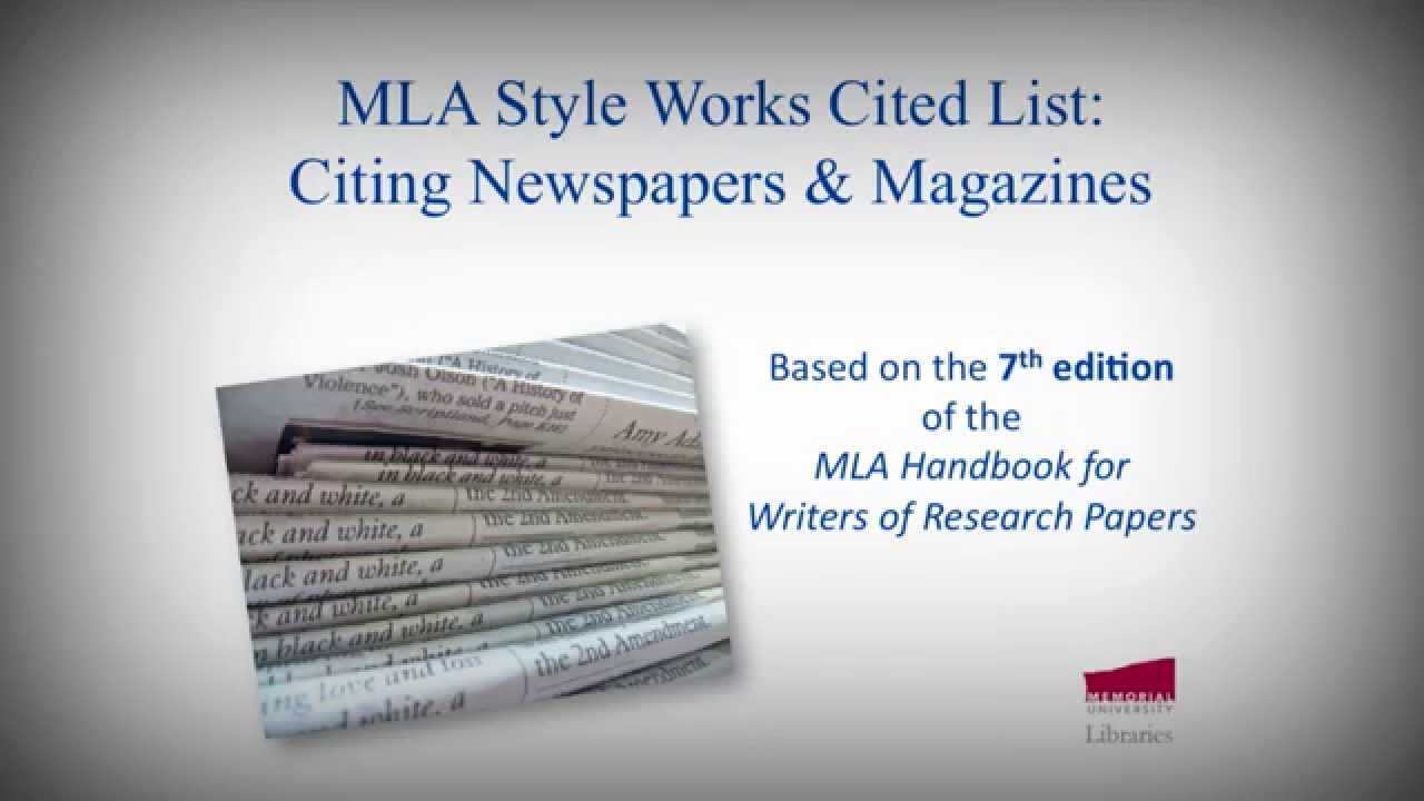 Online mla handbook for writers of research papers