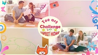 TOE ART CHALLENGE! | ВЫЗОВ!  РИСУЕМ НОГАМИ! | SWEET HOME
