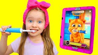 Милли собирается устроить веселые соревнования с говорящим котом