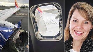 Diese Frau wurde nach einer Triebwerksexplosion aus dem Flugzeug gesaugt