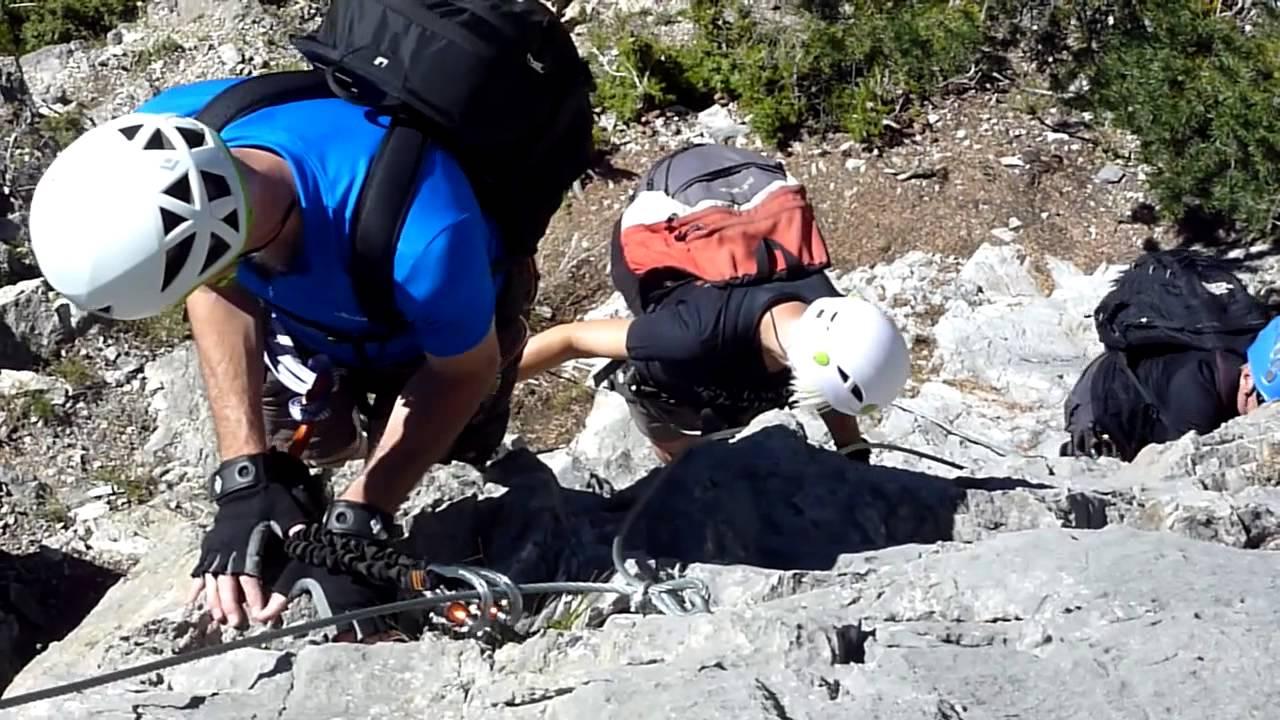 Klettersteig Queyras : Via ferrata les rochers de la clapière ceillac queyras youtube