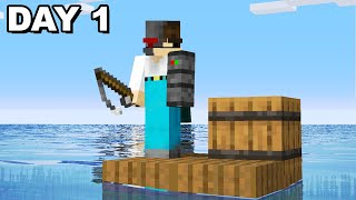 Surviving Minecraft stranded on a RAFT...