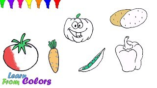 How To Draw Vegetables Coloring Pages For Kids